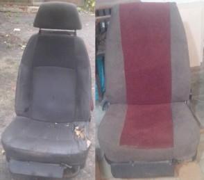 Перетяжка салона авто, перетяжка сидений. Фото